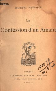 Cover of: La confession d'un amant