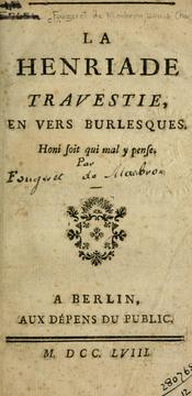Cover of: La Henriade