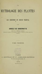 Cover of: La mythologie des plantes