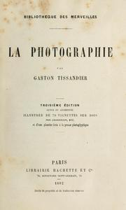 Cover of: La photographie