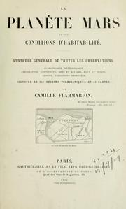Cover of: La planıete Mars et ses conditions d'habitabilité