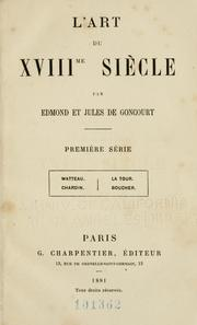 Cover of: L' art du XVIIIme siècle