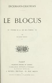 Cover of: Le blocus, épisode de la fin de l'empire [par] Erckmann-Chatrian