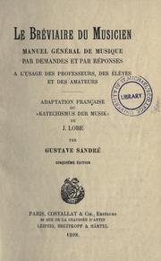 Cover of: Le bréviare du musicien