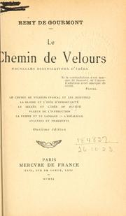 Cover of: Le chemin de velours