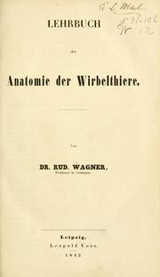 Cover of: Lehrbuch der Zootomie