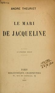 Cover of: Le mari de Jacqueline