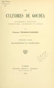Cover of: Les cylindres de Goudéa