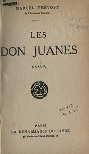 Cover of: Les Don Juanes