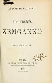 Cover of: Les frères Zemganno