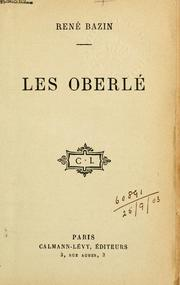 Cover of: Les Oberlé