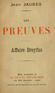 Cover of: Les preuves
