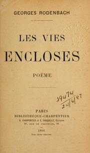 Cover of: Les vies encloses