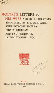 Cover of: Letters to his wife and other relatives