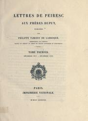 Cover of: Lettres de Peiresc