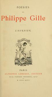 Cover of: L' herbier