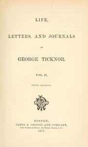Cover of: Life, letters, and journals