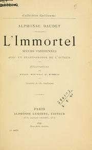 Cover of: L'immortel