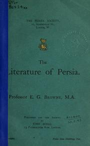 Cover of: The literature of Persia