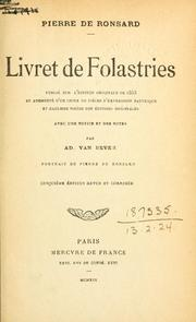 Cover of: Livret de Folastries