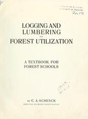 Cover of: Logging and lumbering