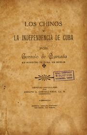 Cover of: Los chinos y la independencia de Cuba