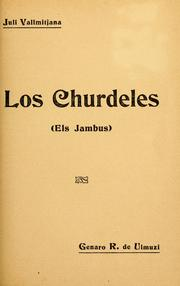 Cover of: Los churdeles