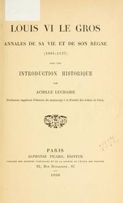 Cover of: Louis VI le Gros