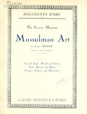 Cover of: The Louvre Museum: Mussulman art