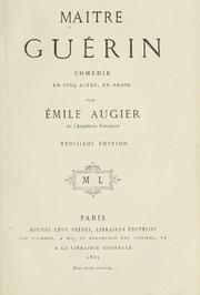 Cover of: Maitre Guérin