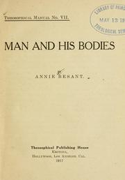 Cover of: Man and his bodies