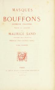Cover of: Masques et bouffons: comédie italienne.