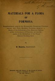 Cover of: Materials for a flora of Formosa