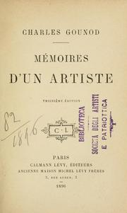 Cover of: Mémoires d'un artiste