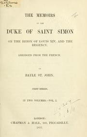 Cover of: Memoirs on the reign of Louis XIV