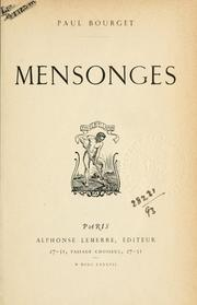 Cover of: Mensonges