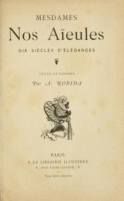 Cover of: Mesdames nos aieules