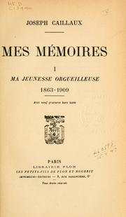Cover of: Mes mémoires