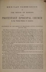 Cover of: Mexican commission of the house of bishops of the Protestant Episcopal Church in the United States of America