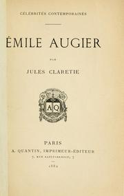 Cover of: Émile Augier