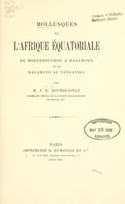Cover of: Mollusques de l'Afrique équatoriale