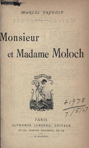 Cover of: Monsieur et Madame Moloch