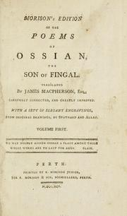 Cover of: Morison's edition of the poems of Ossian, the son of Fingal