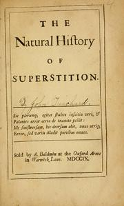 Cover of: The natural history of superstition ..