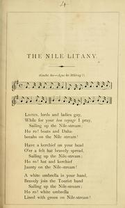 Cover of: The nile litany. [In verse.]
