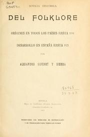Cover of: Noticia histórica del folklore