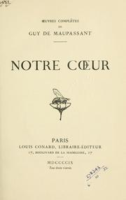 Cover of: Notre coeur