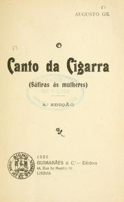 Cover of: O canto da cigarra