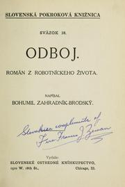 Cover of: Odboj