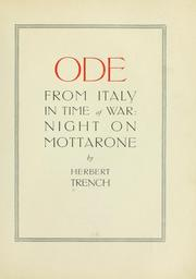 Cover of: Ode from Italy in time of war